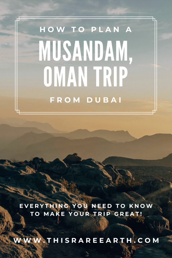 Pin for how to plan a Musandam Oman trip from Dubai
