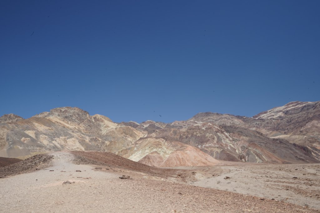Colorful mountain peaks in Death Valley.