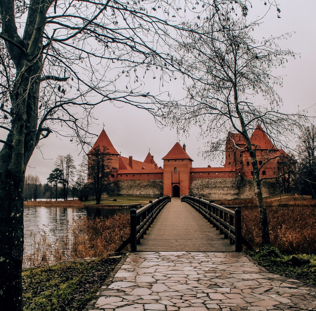 Trakai castle on the lake.