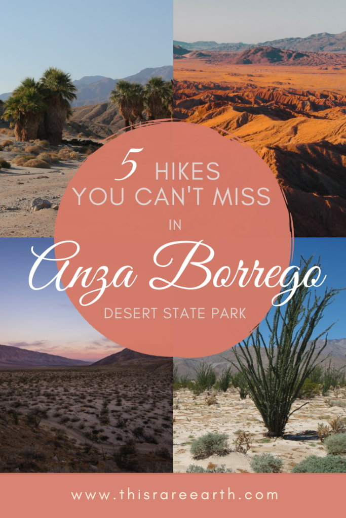 Anza Borrego Hikes you Can't Miss Pin, showing four desert images.