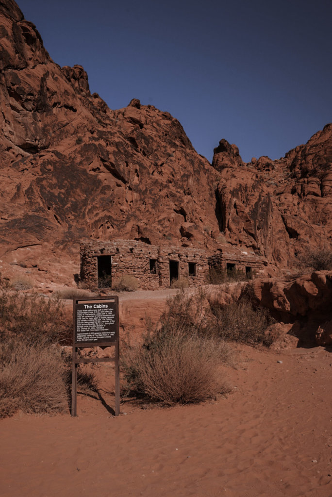Valley of Fire State Park Cabins built in the 1930's.