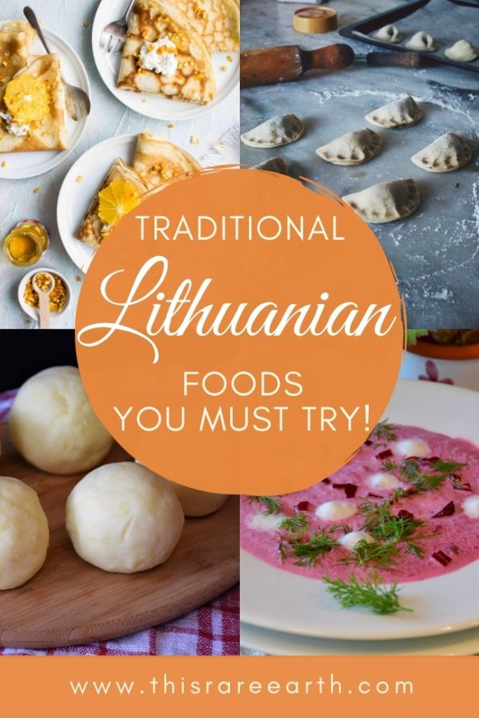 Traditional Lithuanian food photo pin.