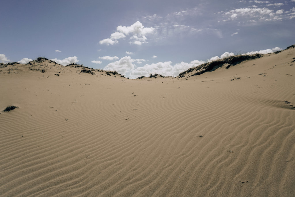 Giant sand dunes are one of the top places to visit in Lithuania!