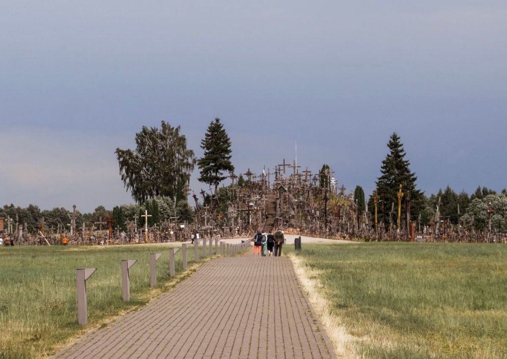 The hill of crosses - one of the most iconic places to see in Lithuania.