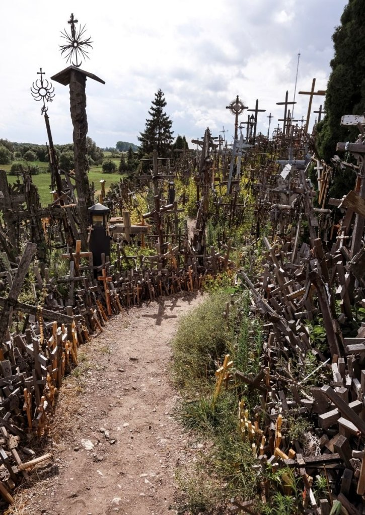 Thousands of crosses.