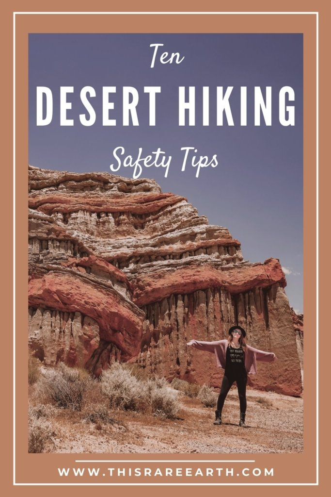 Ten Desert Hiking Safety Tips pin