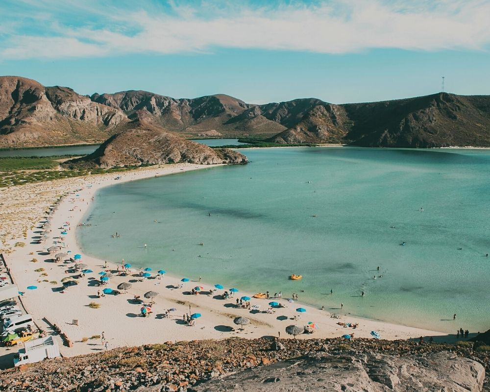 Balandra Bay, and unexpected and beautiful place in Baja on your road trip.