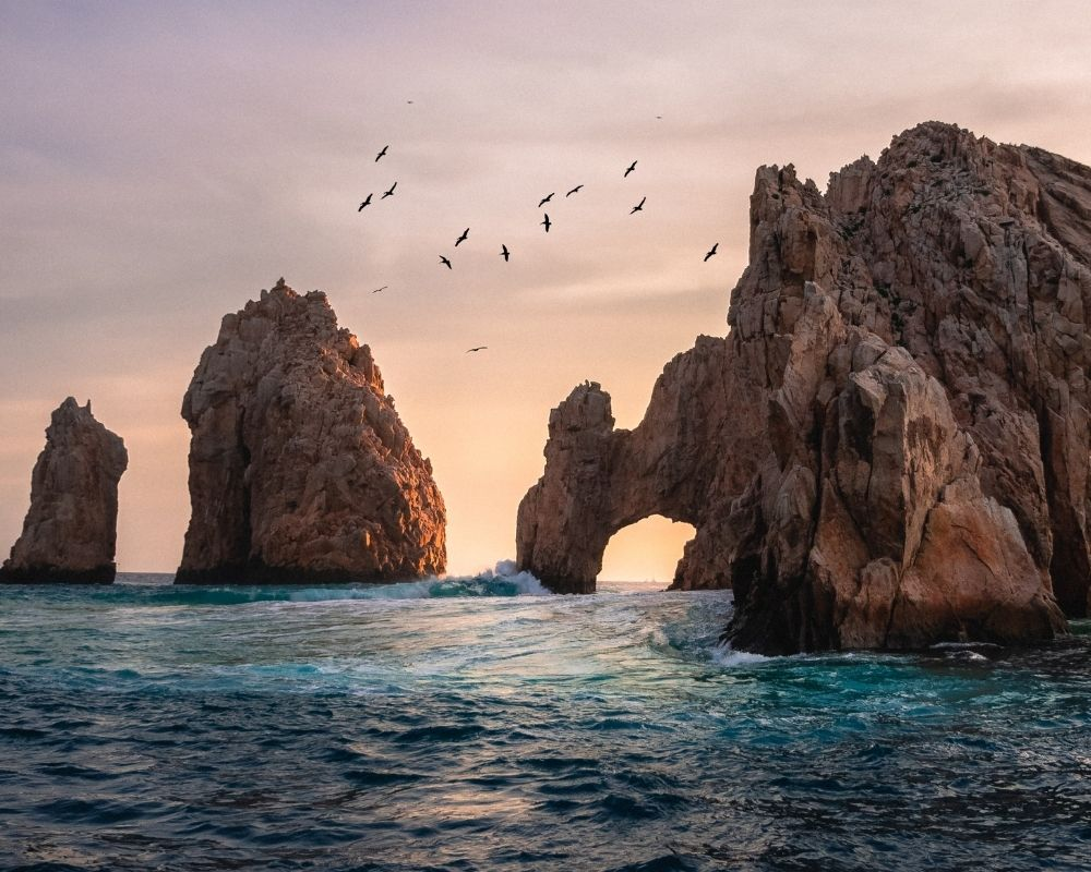 A sunset of El Arco in Cabo San Lucas.