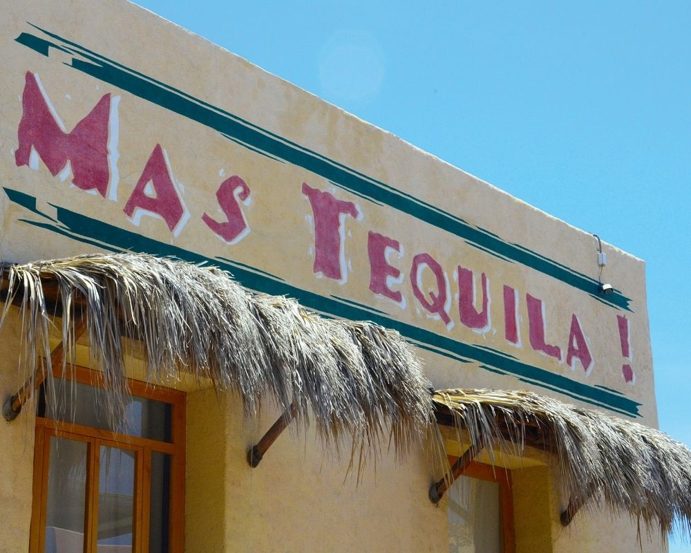 Cancun vs Cano nightlife - a yellow tequila bar.