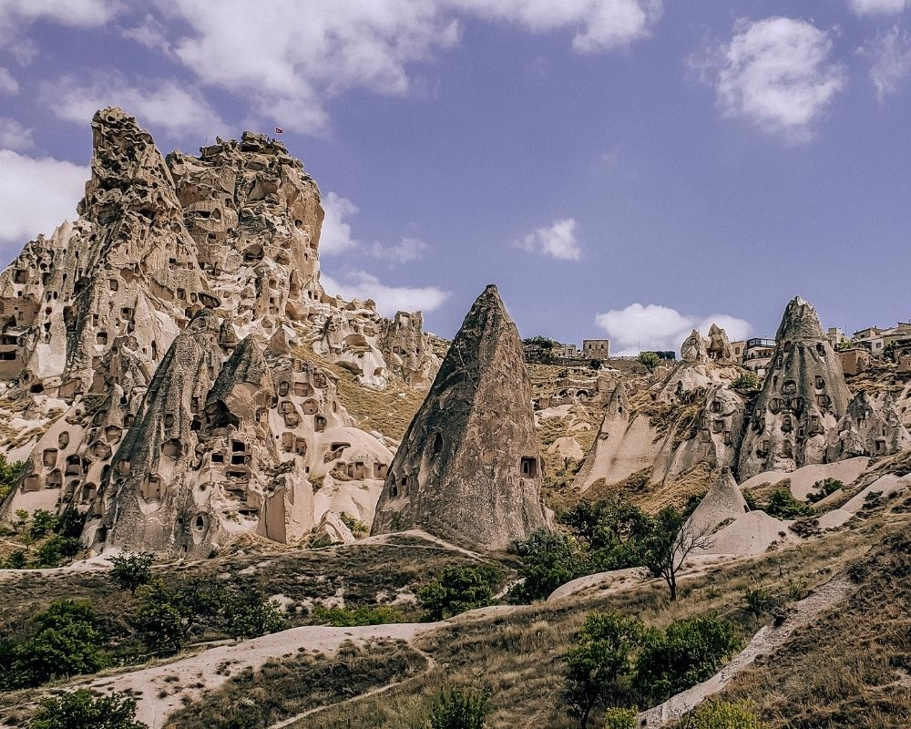 The geological formations in Cappadocia, Turkey.