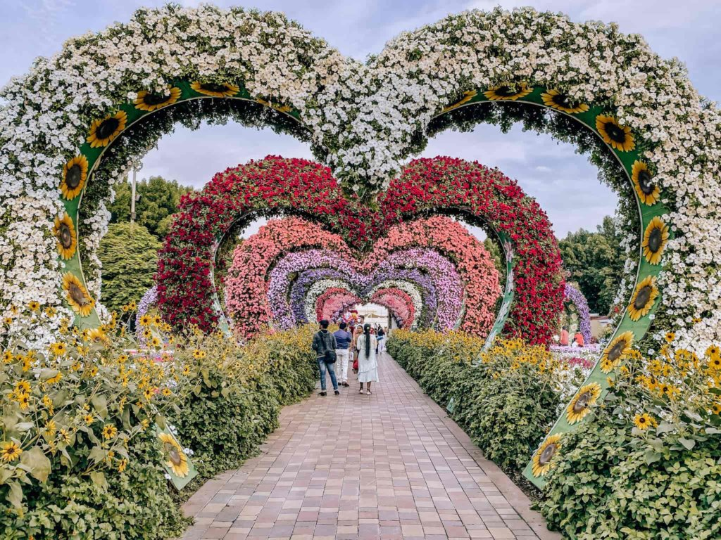 "The ""Love Tunnel"" at the Dubai Miracle Garden."
