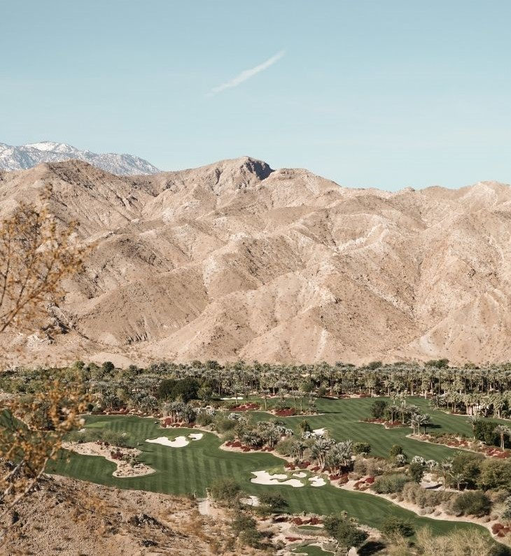 A green golf course on a Palm Springs Day Trip.