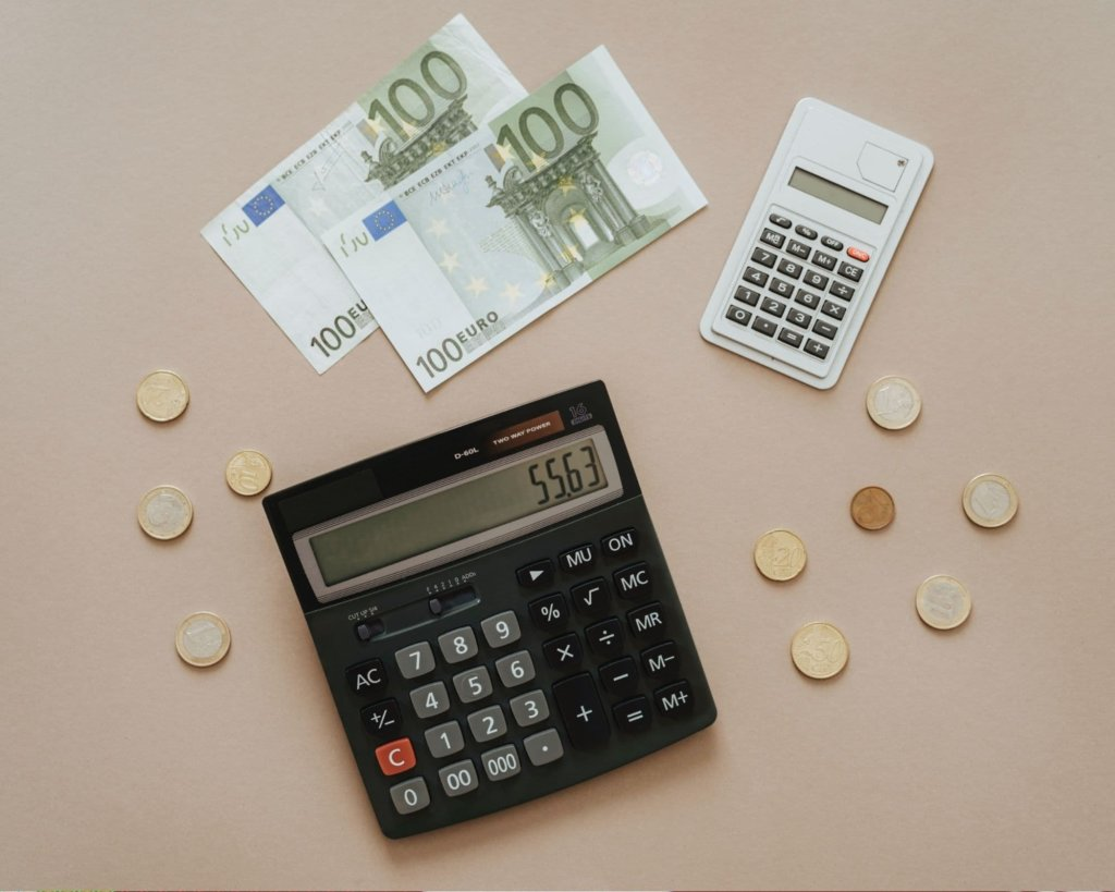 Calculator for currency conversion.