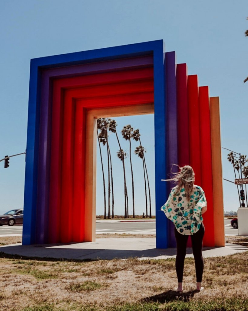Monica at the Chromatic Gate - Unique Things to Do in California.