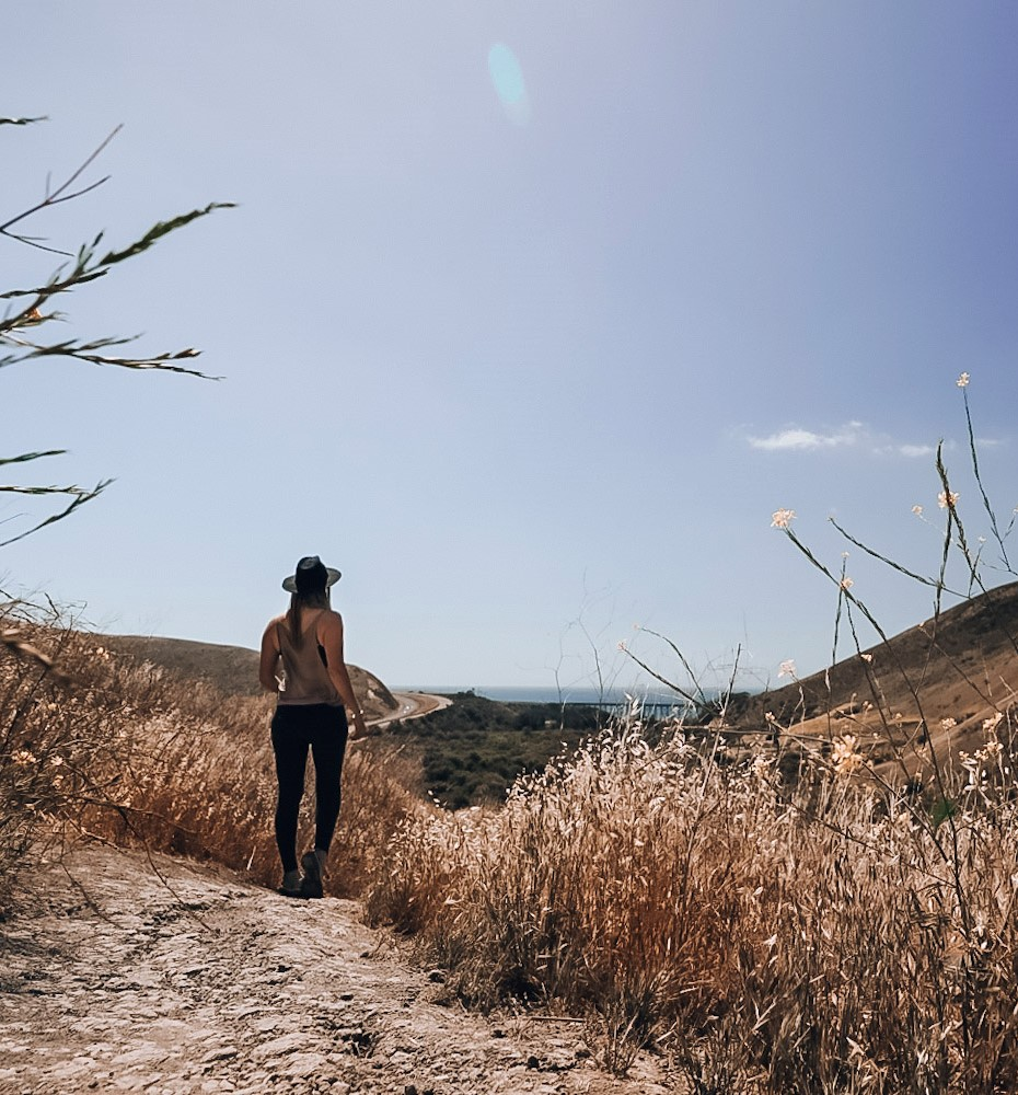 Monica taking in the view on the hike, one of many amazing things to do in Santa Barbara in one day!