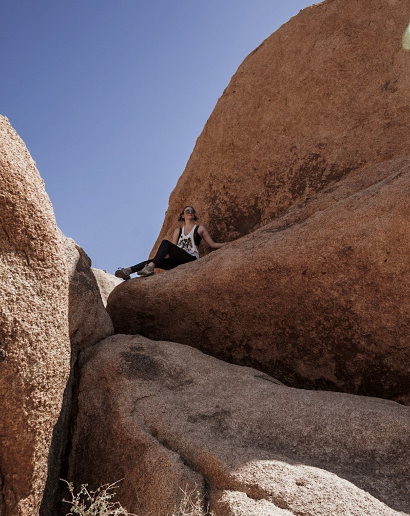 In a remote corner of Joshua Tree, off signal - one of the Drawbacks of Visiting Joshua Tree.