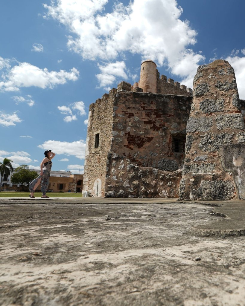 Exploring the ruins and wearing gear from my Santo Domingo Packing List.
