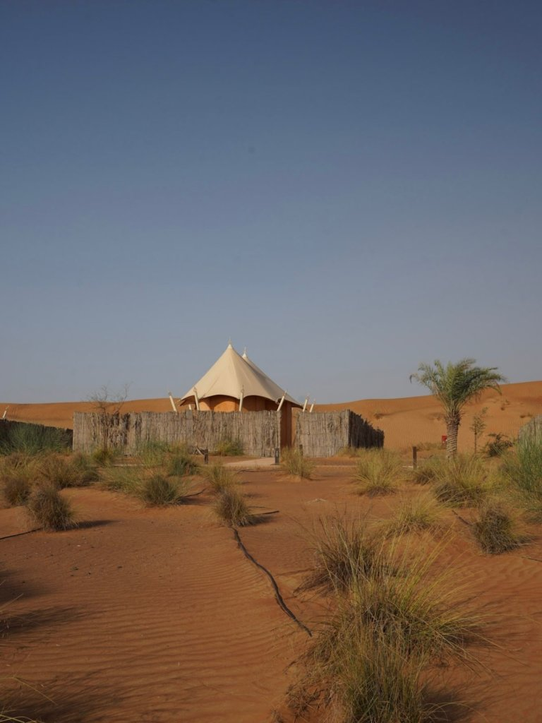 The private tent int he desert at the Mysk al Badayer Retreat.